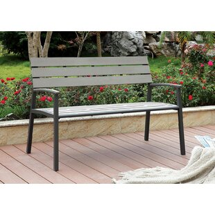Valcourt Outdoor Aluminum Park Bench