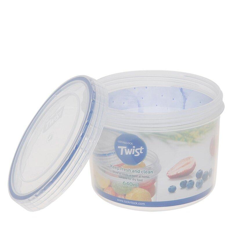 Lock Lock Twist Top Round 216 Oz Food Storage Container Wayfair