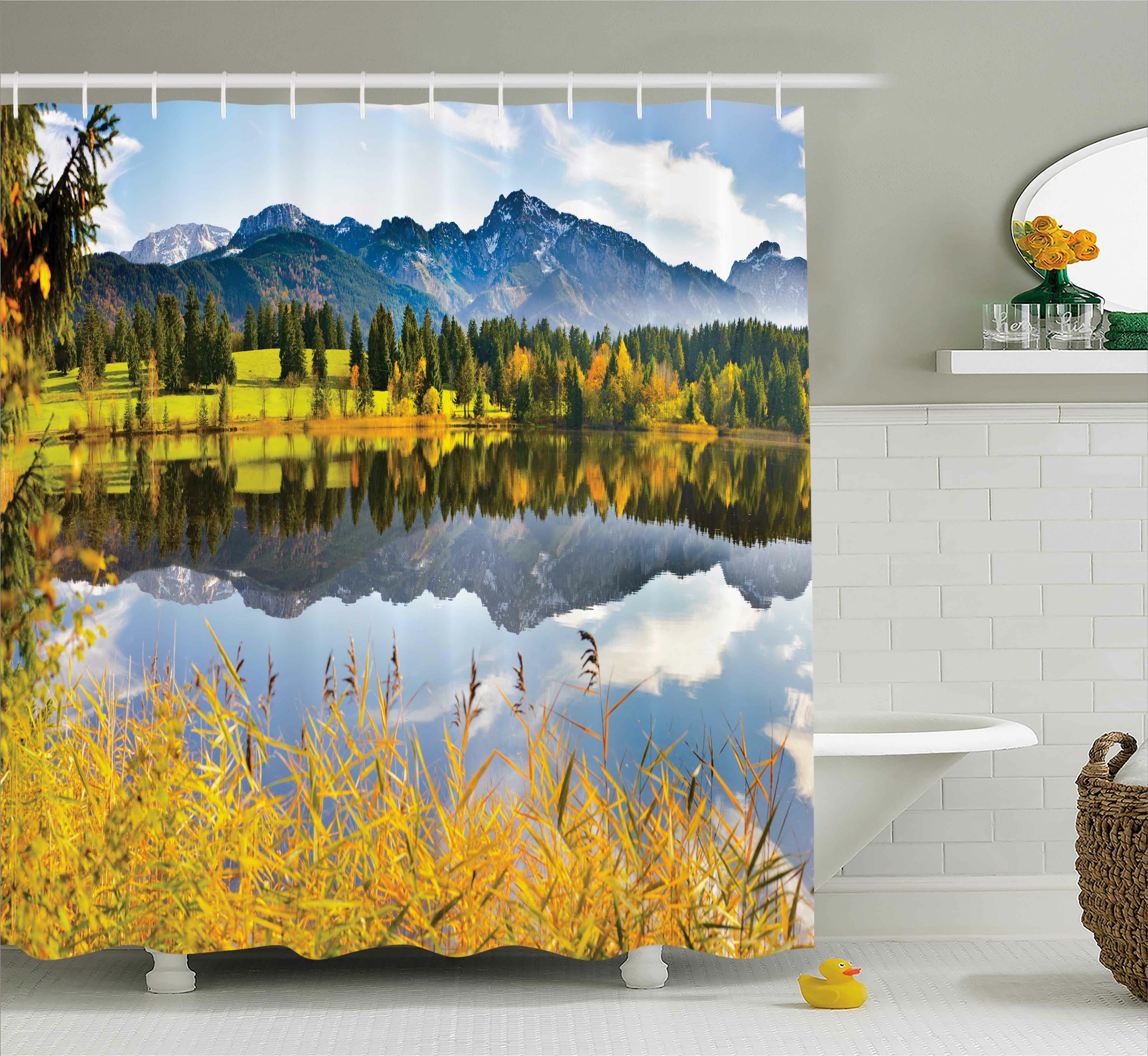 Bleeker Country Scene And Lake Shower Curtain Hooks