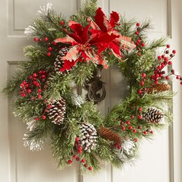 Christmas Wreaths And Christmas Garlands You Ll Love Wayfair