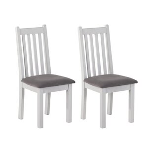 Burdette Vertical Slats Dining Chair (Set Of 2) By Brambly Cottage