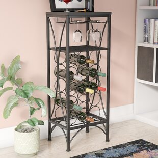Aurelia 15 Bottle Floor Wine Rack by Andover Mills