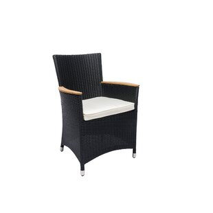 Rosamund Teak Patio Dining Chair with Cushion