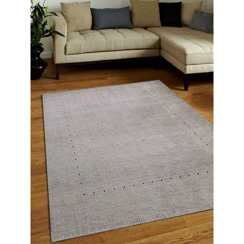 Union Rustic Manns Striped Hand Knotted Wool Green Area Rug Wayfair