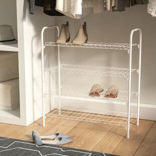 Rebrilliant 4 Tier 9 Pair Shoe Rack