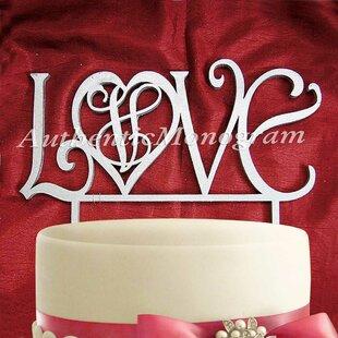 Love Wooden Cake Topper ByaMonogram Art Unlimited