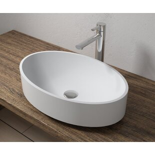 Top Stone Oval Vessel Bathroom Sink By InFurniture