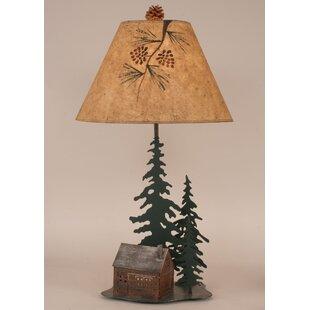 Coast Lamp Mfg. Rustic Living Iron Pine Trees 33