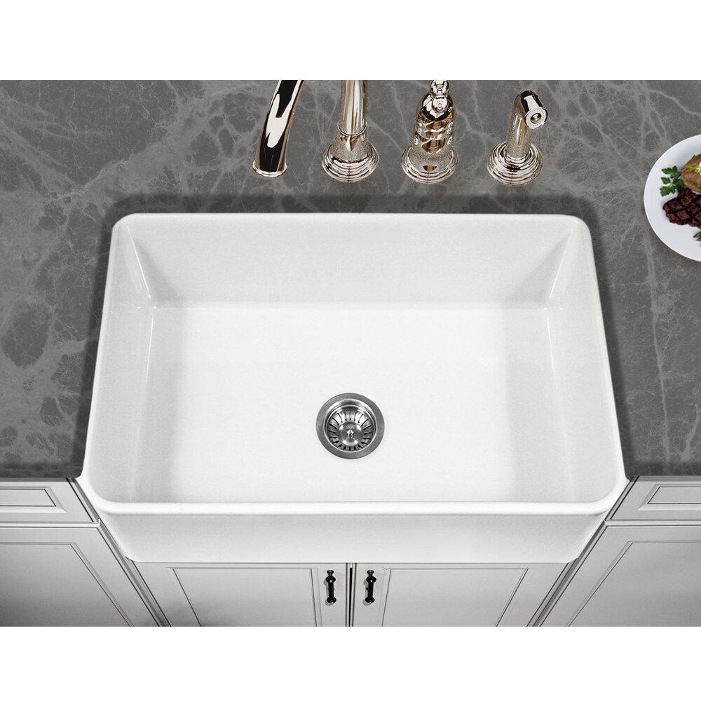 Houzer Platus Fireclay 30 X 20 Farmhouse Kitchen Sink Reviews Wayfair