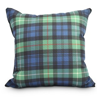 Welliver Tartan Plaid Holiday Outdoor Throw Pillow