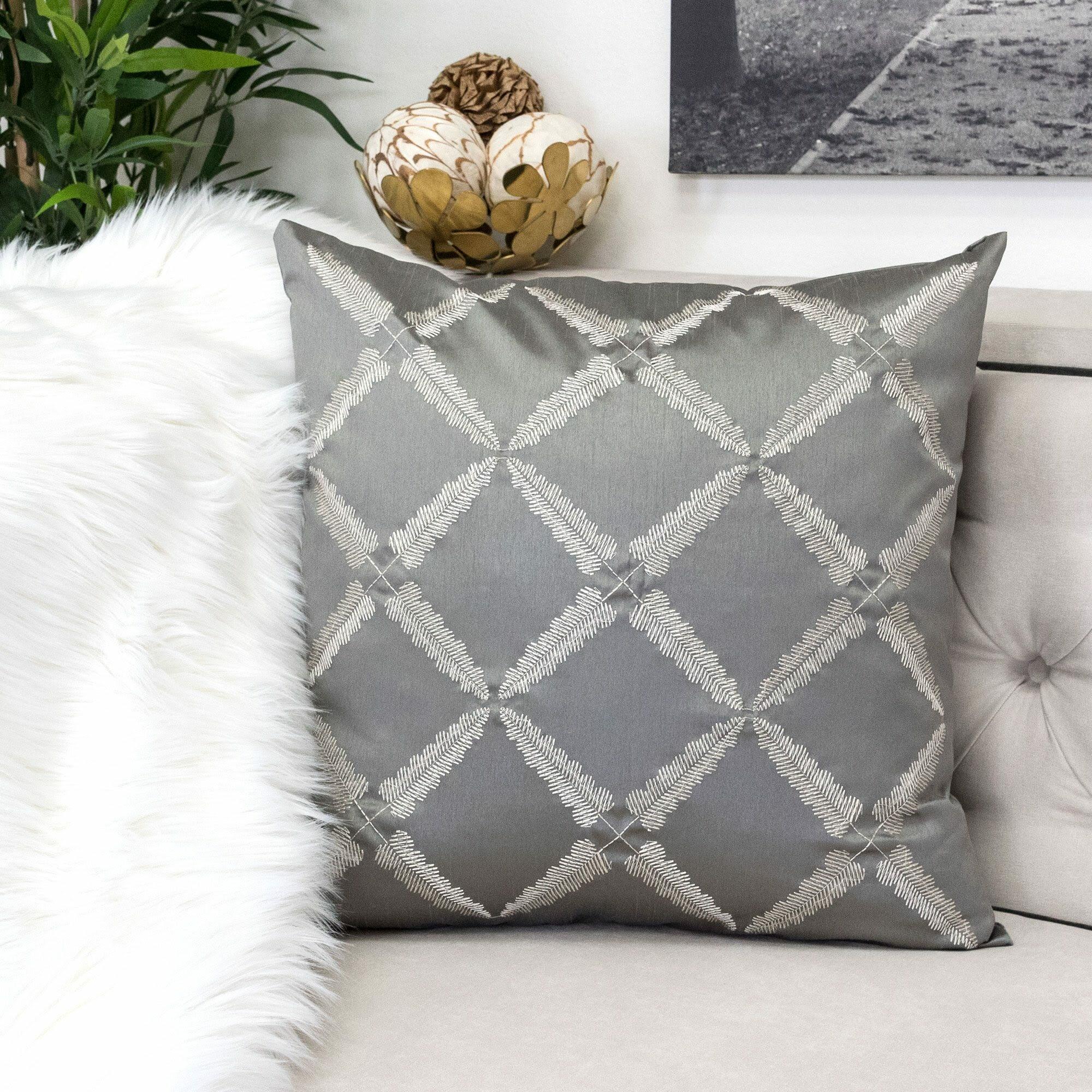 Rosdorf Park Rhine Geometric Indoor Outdoor Throw Pillow Wayfair