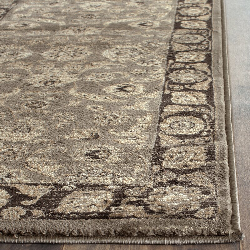 Black Area Rugs safavieh vintage taupe/black area rug & reviews | wayfair