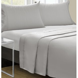Cowden 4 Piece Solid 350 Thread Count 100% Cotton Sheet Set