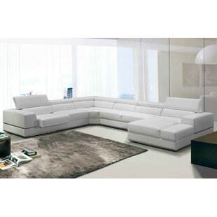 Shop Coalpit Heath Leather Reclining Sectional by Orren Ellis