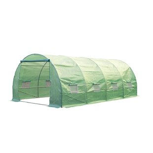 Outsunny 9.8 Ft. W x 19.7 Ft. D Commercial Greenhouse