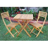 Borica 3 Piece Bistro Set