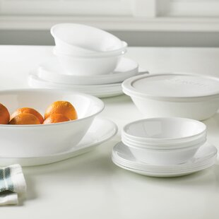 Livingware 74 Piece Dinnerware Set Service for 12 & Dinnerware Youu0027ll Love | Wayfair