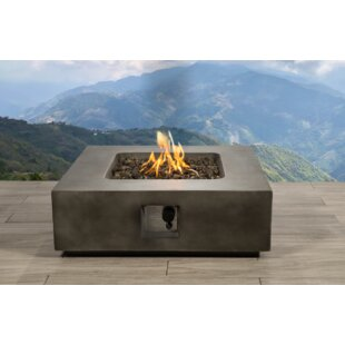 Living Source International Santiago Concrete Propane Fire Pit Table
