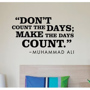 Make The Days Count Wall Quotes™ Decal Part 73