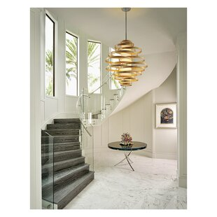 Vertigo 2-Light Geometric Chandelier by Corbett Lighting