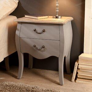 Nachttisch mit 2 Schubladen von Hokku Designs