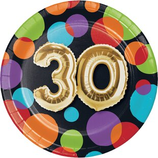 Balloon Birthday Appetizer Plate (Set of 24)