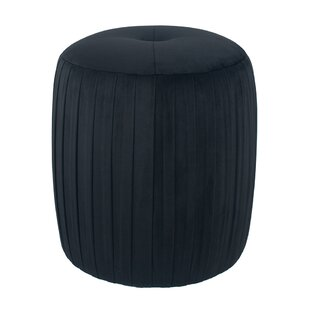Walhame Velvet Pouffe By Canora Grey