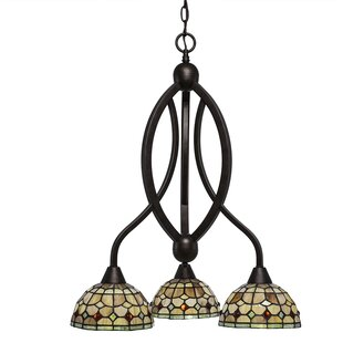 Astoria Grand Austinburg 3-Light Shaded Chandelier