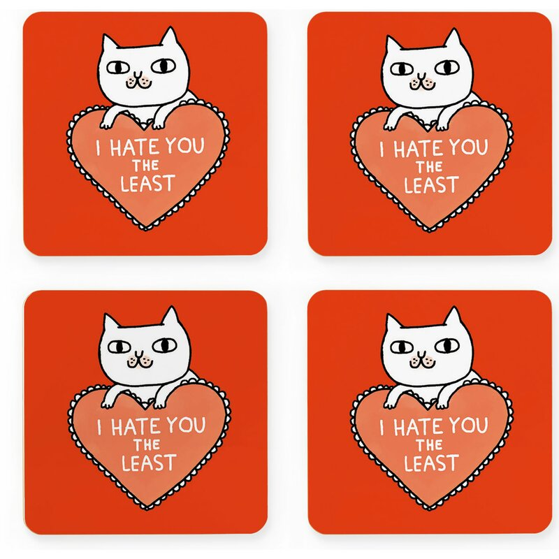 Happy Larry I Hate You the Least Coaster  1a60c35a9743