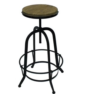 Williston Forge Coutee Adjustable Height Swivel Bar Stool