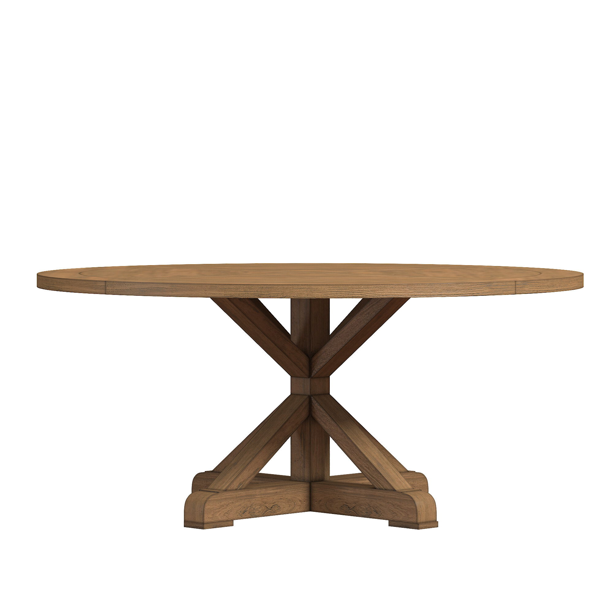 peralta round rustic dining table - Round Wood Dining Table