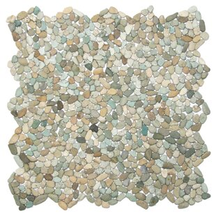 Danube Random Sized Natural Stone Mosaic Tile in Beige/Green