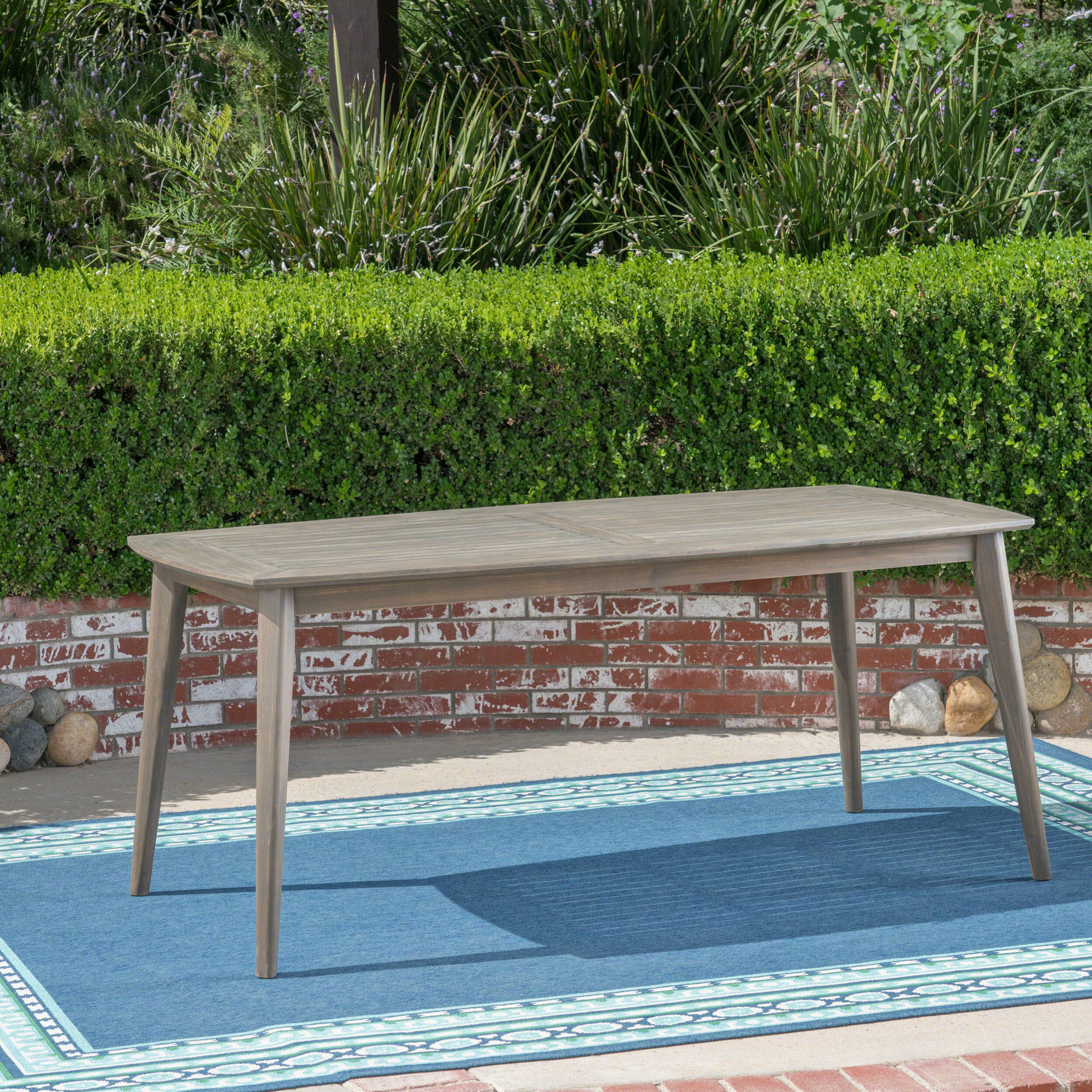 George Oliver Oxendine Solid Wood Dining Table Wayfair