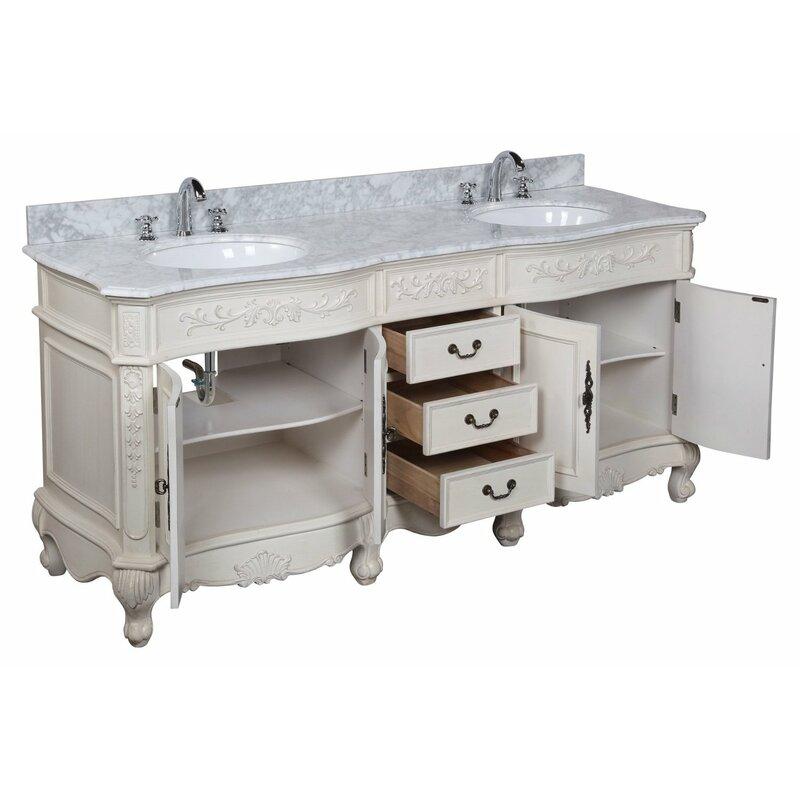 Versailles 72 Double Bathroom Vanity Set