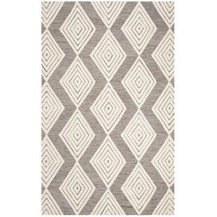 Pizano Hand-Woven Wool Dark Gray/Ivory Area Rug byWrought Studio