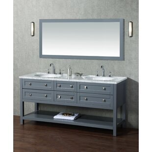 Best Reviews Whaley 72 Double Modern Bathroom Vanity Set with Mirror ByBrayden Studio
