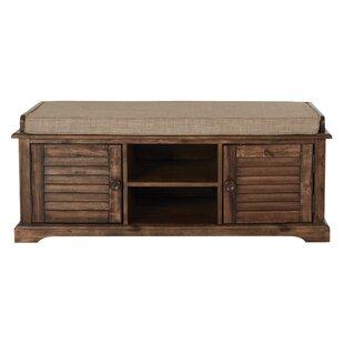 Lutie Wood Entryway Storage Bench