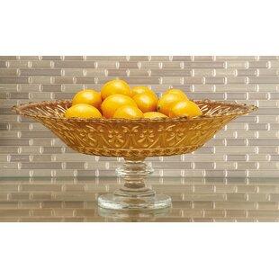 Fresh Clear Glass Footed Bowl   Wayfair DN62