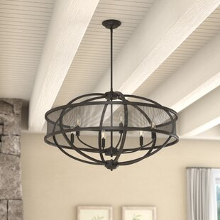 Laurel Foundry Modern Farmhouse Tensed 6-Light Globe Chandelier