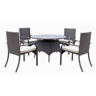 Darby Home Co Azusa 5 Piece Dining Set with Cushion