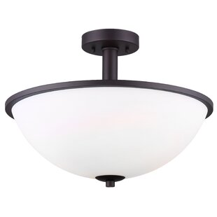 Cusack 3-Light Semi Flush Mount by Ebern Designs