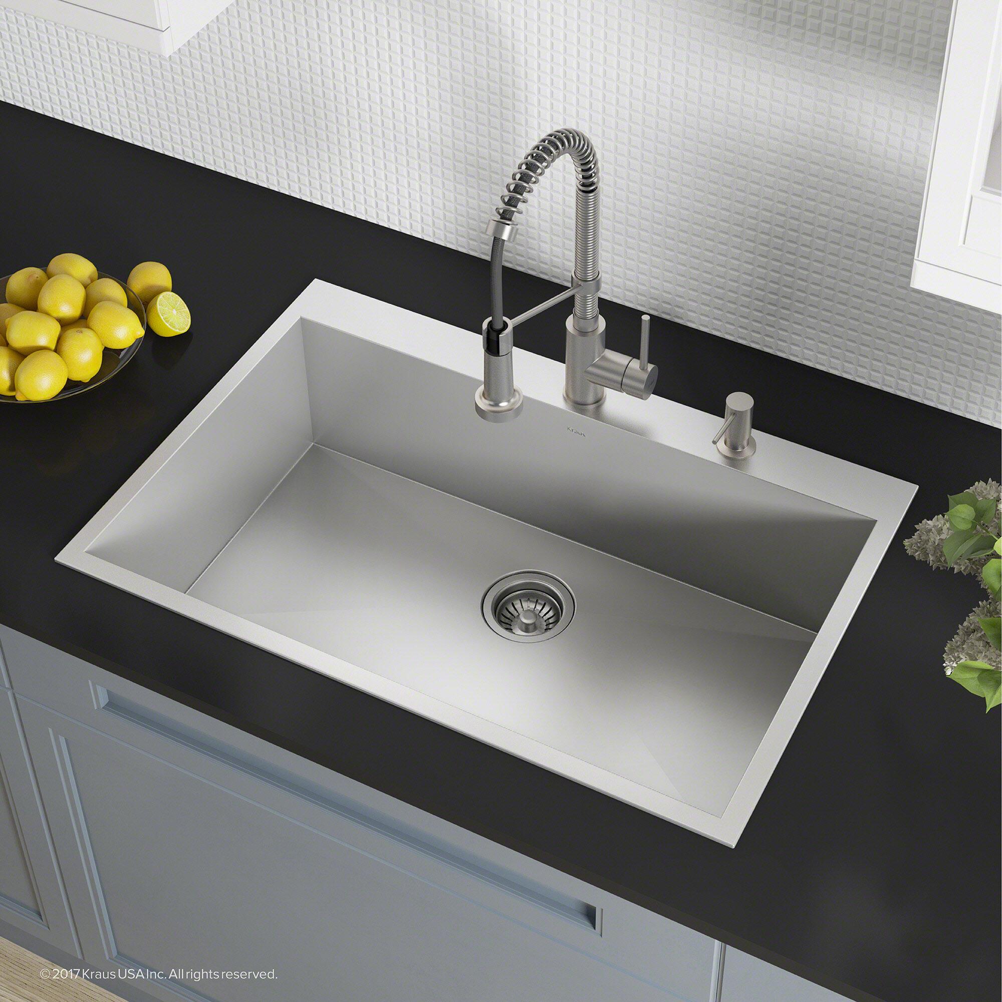 Pax Zero Radius Topmount Series 33 X 22 Drop In Kitchen Sink Reviews Allmodern