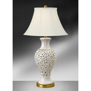 Kristi Eggshell Round 33 Table Lamp (Set of 2)