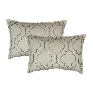 Hampton Embroidered Reversible Decorative Cotton Boudoir Pillow (Set of 2)