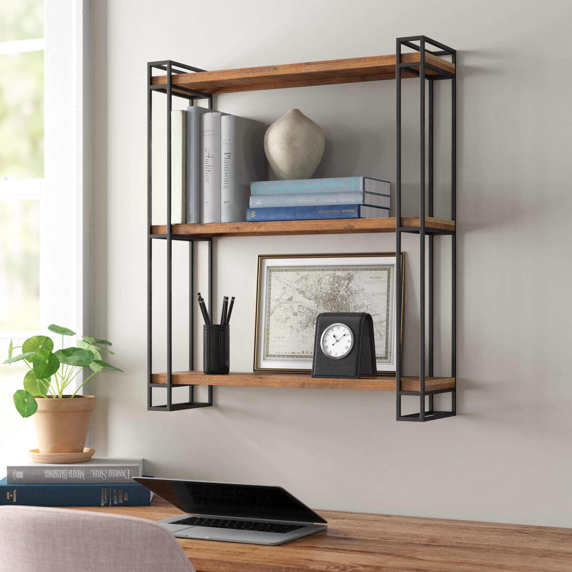 Afuly Black Wall Shelf Metal Floating Shelves Heart Design Industrial Modern Farmhouse Style Fancy Unique Decoration For Bathroom Bedroom Home Décor Accents Home Semo Es