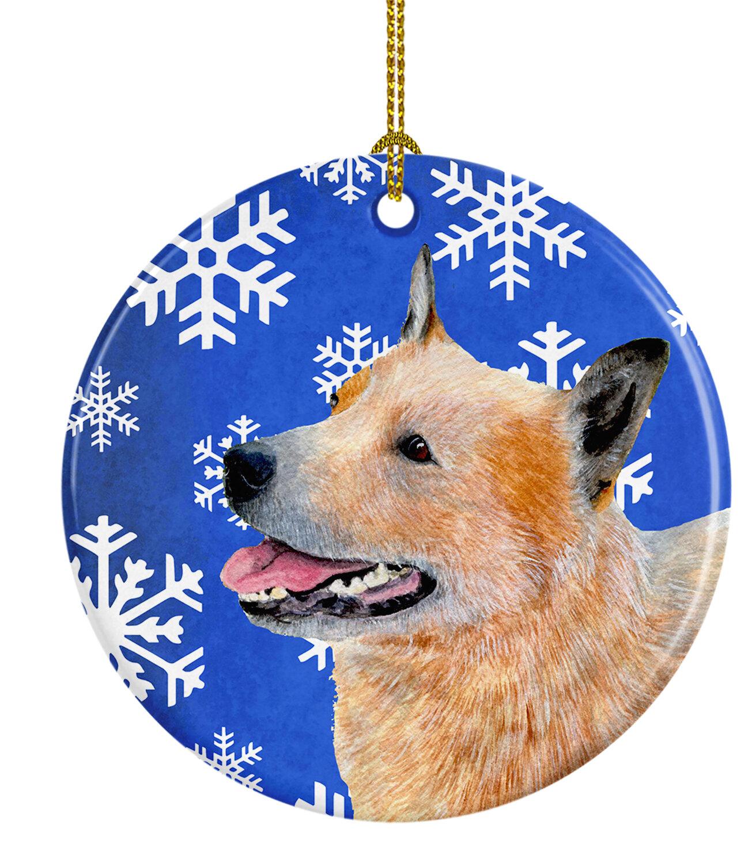Australian Cattle Dog Holiday Porcelain Christmas Tree Ornament