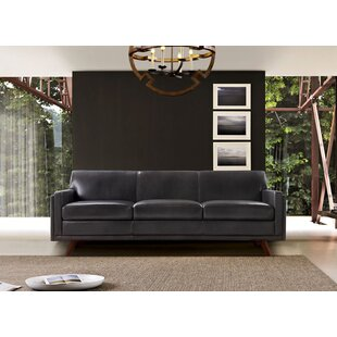 Ari Genuine Leather Modern Leather Sofa by Corrigan Studio New