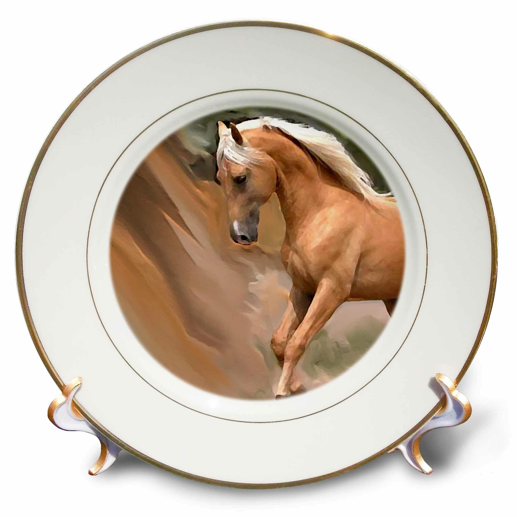 East Urban Home Palomino Horse Porcelain Decorative Plate Wayfair