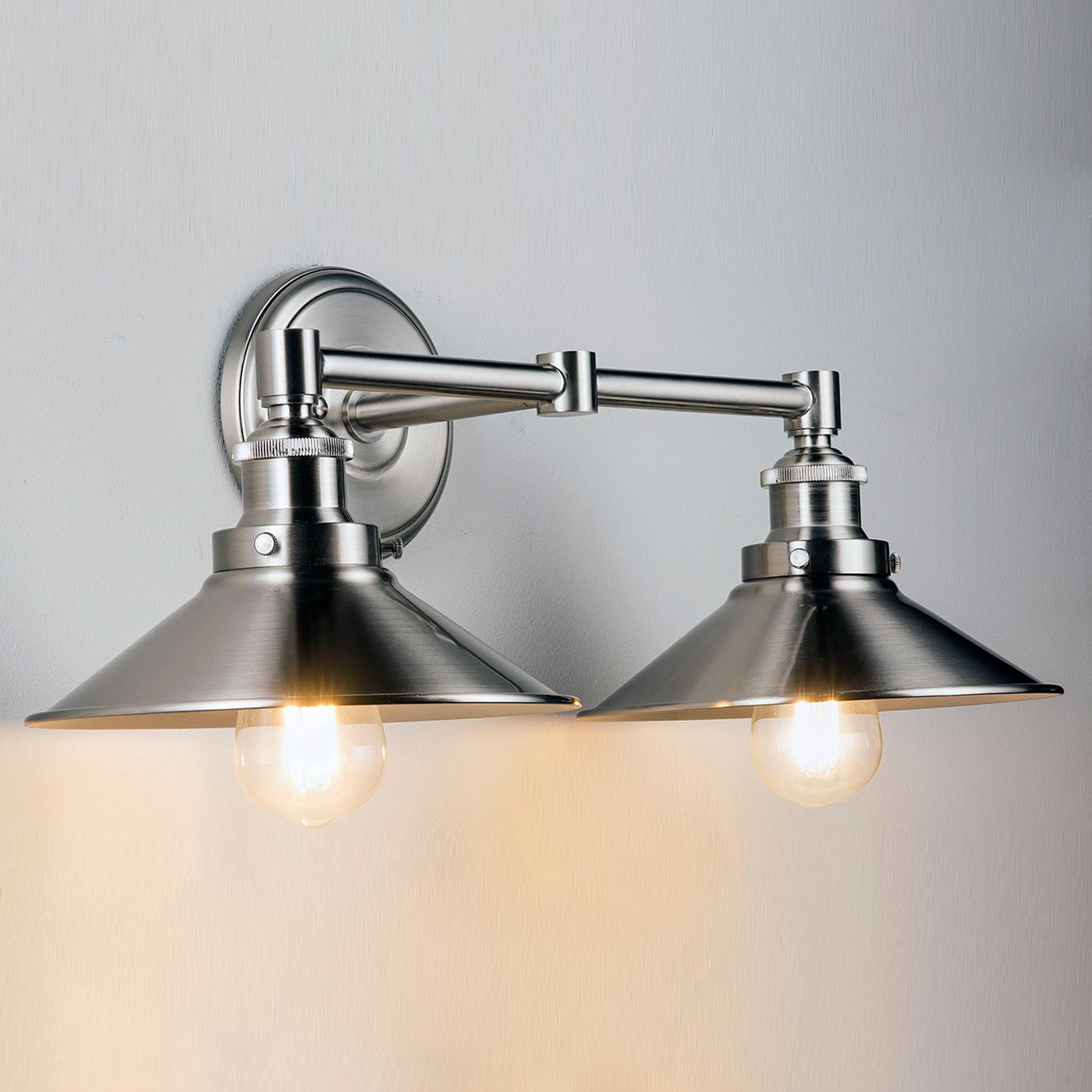 Trent Austin Design Acquah 2 Light Dimmable Vanity Light Reviews Wayfair Ca