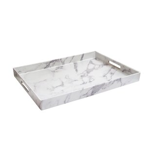 Marble Tray With Gold Handles Wayfair Ca